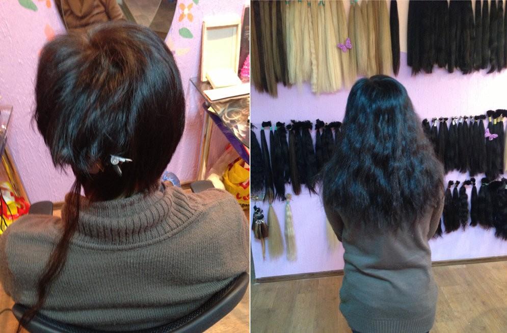 Видео наращивание волос на короткие волосы