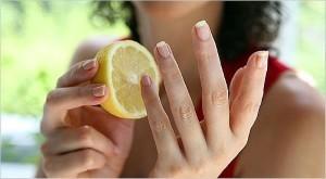 маска из лимона для ногтей