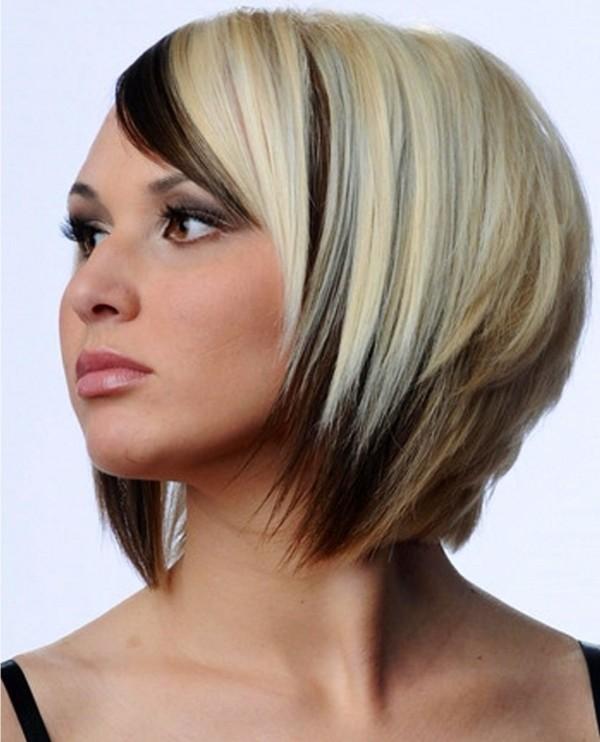 Окраска волос в два цвета темный низ светлый верх фото