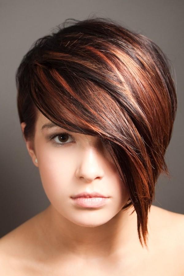 Покраска волос на коротких стрижках