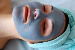 великолепная голубая маска для лица